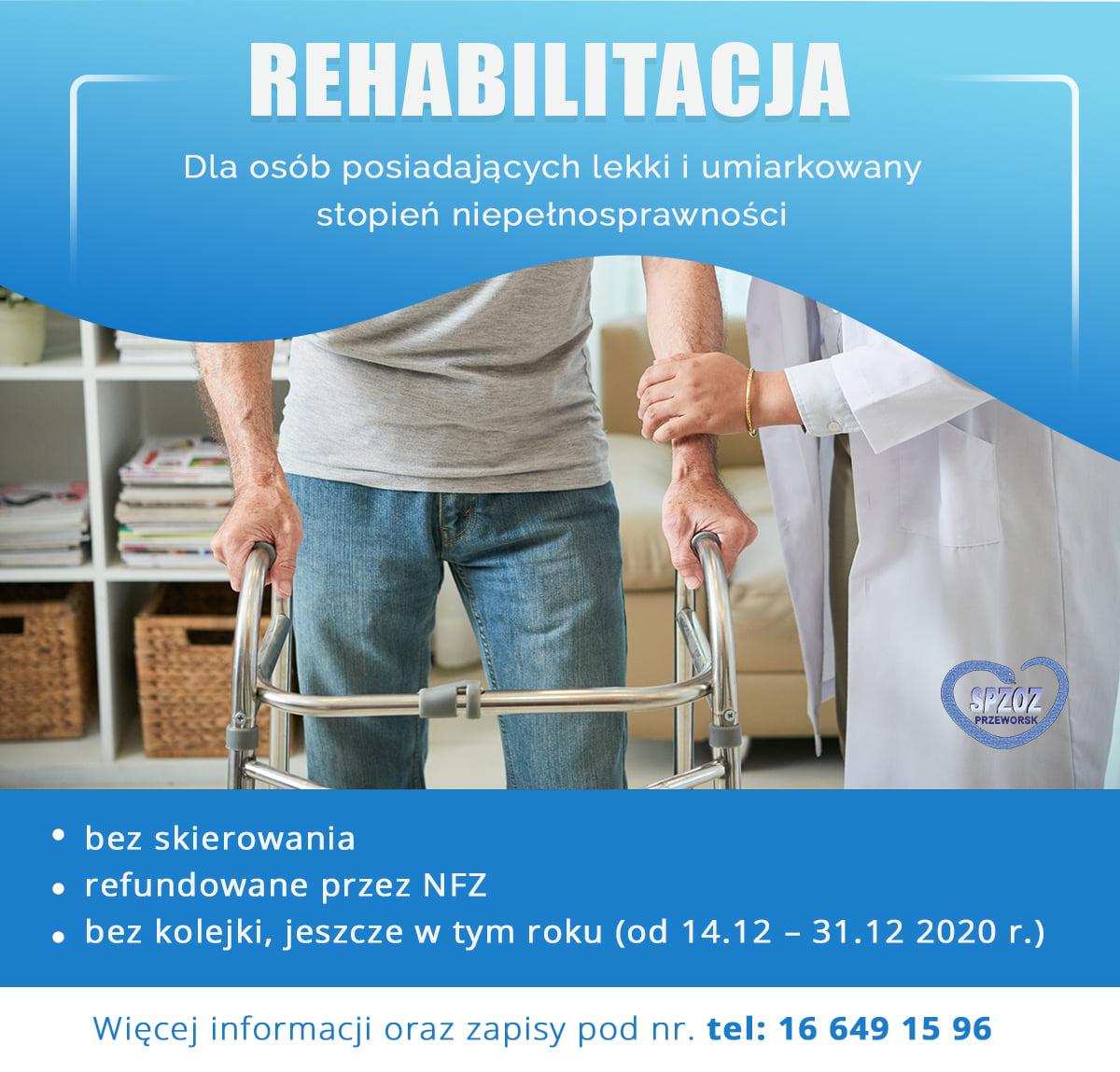 Rehabilitacja dla osób posiadających lekki i umiarkowany stopień niepełnosprawności