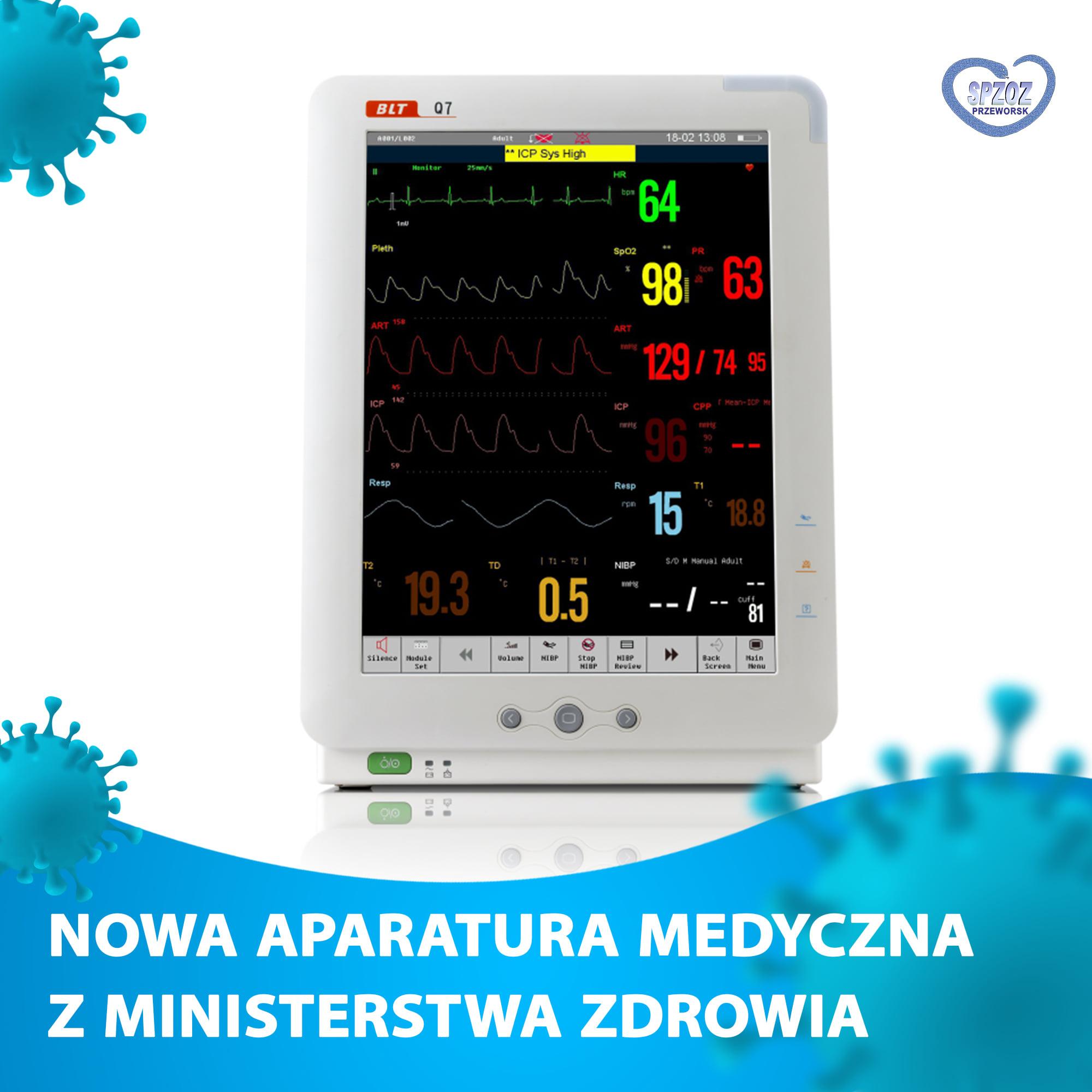 Nowa aparatura medyczna z Ministerstwa Zdrowia